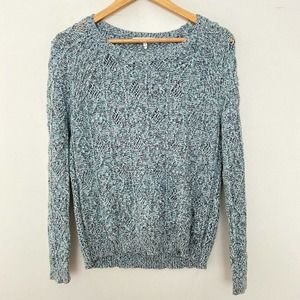Sandro 1 Cotton Cable Knit Long Sleeve Sweater